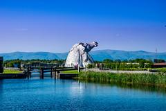 Kelpies (Tony Shertila) Tags: scotland andyscott britain canal europe falkirk horse kelpies monument ourdoor sky statue structure thehelix water grangemouth unitedkingdom 20180528172256scotlandfalkirkkelpieslr