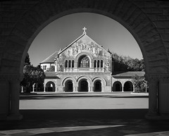 Stan Jul Church 005 (reed.john51) Tags: california stanford church memorialchurch blackandwhite monochrome morning filter calumet schneider symmar architecture sandstone