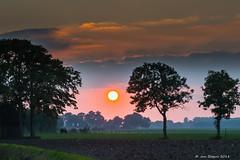 Zonsondergang - Coucher de soleil - Sunset (Jan Bogers) Tags: zonsondergang janbogers d800 coucher de soleil paysage wouw spellestraat roosendaal noordbrabant westbrabant silhouet silhouette crepuscule