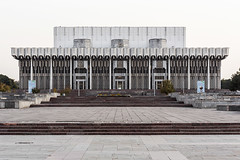 The former Palace of Friendship of the Peoples, now Istiklol Palace of Arts. (Stefano Perego Photography) Tags: stepegphotography stefano perego building concrete modernism modernist modern brutalism brutalist soviet architecture design central asia