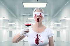 Blind Tasting (Apionid) Tags: blood tasting blindtasting white clinical horror werehere hereios nikond7000
