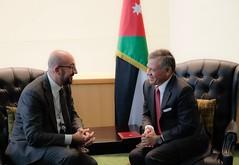 جلالة الملك عبدالله الثاني يلتقي رئيس الوزراء البلجيكي شارل ميشيل (Royal Hashemite Court) Tags: unga kingabdullahii kingabdullah