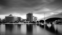 Tempe, Arizona (Ken Mickel) Tags: arizona cityscape clouds cloudscape cloudy kenmickelphotography lake lakes landscape longexposure longexposurephotography outdoors reflections sky tempe tempetownlake waterscape weather architecture blackandwhite bridge nature photography water unitedstates us