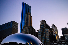 Chicago Skyline (SnapshotsByEllie) Tags: nikon nikonphotography nikond3200 justgoshoot photooftheday amateur amateurphotography beginner beginnerphotographer chicago illinois downtownchicago downtown chitown cloudgate bean thebean attplaza millenniumpark loop theloop chicagoloop sculpture skyline skyscape building buildings architecture sky