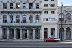 Havana (Sean Sweeney, UK) Tags: nikon dslr d750 havana cuba caribbean island vintage la habana lahabana old town oldtown car cars automobiles auto autos taxi taxis building architecture window windows red travel photography photo