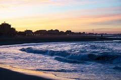 Spiaggia tramonto costa (berightbackblog) Tags: rimini romagna emiliaromagna italia italy mare streetart
