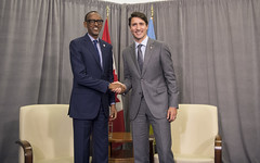 President Kagame meets with Prime Minister Justin Trudeau of Canada on the sidelines of the 17th Francophonie Summit | Yerevan, 11 October 2018 (Paul Kagame) Tags: kagame justin trudeau louise mushikiwabo lm francophonie armenia canada yerevan erevan