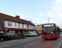 Single 627 | Arriva London South ENL24 LJ58AUY | 627 to Worcester Park (Unorm001) Tags: enl 24 lj58 auy red london double deck decks decker deckers buses bus routes route diesel single