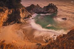 McWay Waves 2 (lycheng99) Tags: mcwayfalls mcway falls beach ocean pacificcoast pacificocean bigsur mcwayfallsbeach sunset dusk color longexposure light landscape nature