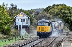 56090 at Elmton and Creswell Junction (robmcrorie) Tags: 56090 56094 rhtt staple ford sandiacre toton creswell elton junction signal box nikon d850 200500 ed vr lens colas class 56 elmton stapleford train rail railway railfan loco