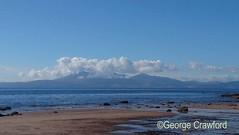 October Afternoon Seamill Beach (phone) (g crawford) Tags: phone seamill westkilbrideayrshirenorthayrshire beach arran clyde firthofclyde sea water crawford ayrshire northayrshire