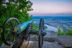 Lookout Mountain - Cannon View at Sunset (Dan at ProPeak - Thanks for over 1.1M views!) Tags: america blue cannon chattanooga chickamaugachattanooga city cityscape civilwarmemorial clouds dusk famousplace green internationallandmark lookoutmountain moccasinbend nps nationalmilitarypark nationalregisterofhistoricplaces northamerica pink places pointpark purple red river rocks sunset tennessee tennesseeriver touristattraction traveldestination travelandtourism trees ushistoricdistrict usa unitedstates water us