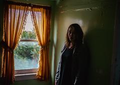 KATIE (Greyson Rose) Tags: people portraits abandonec abandoned model female woman girl green orange light window urbanexploration