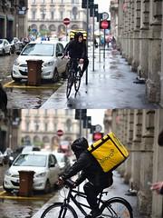 [La Mia Città][Pedala] per Glovo (Urca) Tags: 1159 milano italia 2018 bicletta pedalare ciclista ritrattostradale portrait dittico bike bicycle nikondigitale scéta glovo