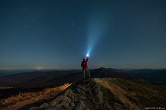 Looking for... (Piotr Potepa) Tags: night nightscape nightscapes nikon nightsky sigma pleyades stars bieszczady mountains moonlight selfie poland piotrpotepa