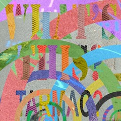 art-print-abstraction-collage-photography-tarmac-what's-this-20 (Julian F Jones) Tags: modernart contemporary colourful abstraction typography patterns tarmac texture geometric circles arcs