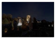 A nights walk at Fountains Abbey. A (johnhjic) Tags: johnhjic nikon d850 northyorkshire floodlight walk night fountains abbey stars
