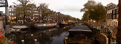 Amsterdam, (alamsterdam) Tags: canal amsterdam brouwersgracht clouds architecture bikes longexposure reflection evening houseboats