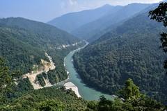 The Teesta River (sandhya.sahi) Tags: teesta river tista nature naturephotography breathtakingview breathtakinglandscape green greenary clearsky india sikkim travel travelphotography vacation 2018
