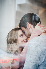 Lovebirds (haddartist) Tags: portrait photoshoot couple man woman engagement together love sweet cute embrace smile happy afternoon light naturallight window reflection color colorful norfolk virginia