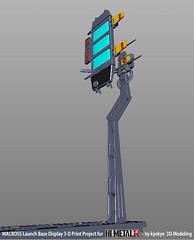 LaunchArmBase_07 (kyewans) Tags: macross himetalr display base launch arm 3d print