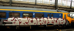 traingraffiti (wojofoto) Tags: treingraffiti trein traingraffiti train hotus stu amsterdam graffiti streetart nederland netherland holland wojofoto wolfgangjosten