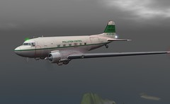 "C47 Air atlantique G-AMYJ (Jenny ""Oxymoron"" D) Tags: secondlife slaviation c47 dakota dc3 vintage aircraft firestorm"