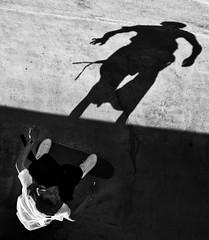Shadowplay (.Betina.) Tags: shadow shadowplay boy childhood child skateboard blackandwhite portrait portraiture bb betinalaplante monochrome mood mono moody dark 2018