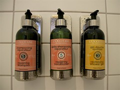L'Occitane Products (oxfordblues84) Tags: icelandairakureyrihotel iceland akureyri akureyriiceland oat overseasadventuretravel bottles shampoo conditioner tile tilewall shower bottle showergel loccitaneproducts