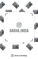 example of nametag for Instagram (Sasha India) Tags: instagram nametag instatag tag name sashaindia дизайн qrcode design 設計 디자인 التصميم σχέδιο डिज़ाइन வடிவமைப்பு desenhar projekt עיצוב desain camera