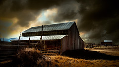 Shelter From The Storm (emiliopasqualephotography) Tags: barn farm ranch storm clouds sky moody moabut utah usa