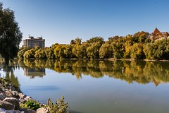 Reflections at the rver (Daniel Boca) Tags: water waterscape river arad romania reflection reflections mirror tree trees green blue bluesky light sunlight nature naturephotography naturepics naturephotograph stones landscape city cityscape canon canoneos750d canoneurope canonromania