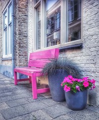 Take a seat. (Natje_9999) Tags: street streets streetphotography bench bank seat seating tholen thenetherlands