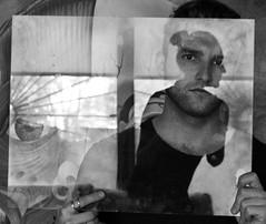 *** (Anastasia Potekhina) Tags: portrait autoportrait blackwhite bw reflection glass leica 35mm summilux