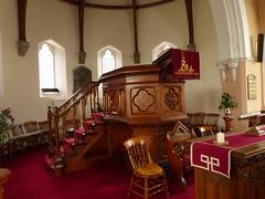 Church - Church of Scotland, Braemar 180711 [pulpit] (maljoe) Tags: church churches braemar churchofscotland stainedglasswindow stainedglass stainedglasswindows