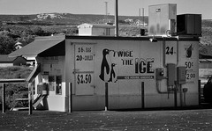 Twice the Ice (arbyreed) Tags: arbyreed monochrome bw blackandwhite ice icehouse icemachine icehouseamerica icevendingmachine frozen cold grandjunctioncolorado