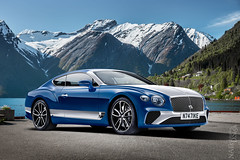 Bentley Continental GT (nike_747Original) Tags: naksphotographydsign bentley continental gt grand speed turbo grandtourer fastback convertible 22 w12 w 12 twinturbo coupe supercar hypercar super hyper car sportscar sport class exotic rare luxury color auto limited edition roadlegal bullet blue white duo colors tones mountains lake reflection wave water trees snow sky village houses flowers silver classic rocks winged b