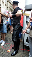 "bootsservice 18 760374 (bootsservice) Tags: paris ""gay pride"" bottes cuir boots leather motards motos motorcyclists motorbiker caoutchouc rubber weston cap top sm"