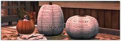 .Old Newspaper Pumpkins (Abi Latzo) Tags: zencreations homeandgarden home decor mesh halloween pumpkin secondlife sl shopping holiday decoration jian