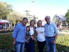 21/09/18 - Festival da Primavera em Nova Petrópolis com os vereadores Katia Zummach, Jorge Darlei Wolf e Nei Schneider