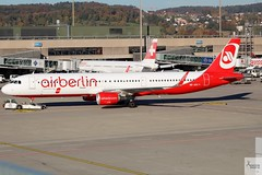 Air Berlin (Opf Belair) A321-211 HB-JOX pushing back at ZRH/LSZH (AviationEagle32) Tags: zurichairport zurichkloten zurich kloten zrh lszh switzerland airport aircraft airplanes apron aviation aeroplanes avp aviationphotography aviationlovers avgeek aviationgeek aeroplane airplane planespotting planes plane flying flickraviation flight vehicle tarmac airberlin belair airbus airbus321 a321 a321200 a321211 hbiox