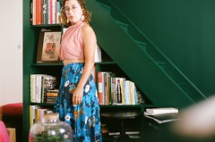 45910013 (sarahhusein) Tags: paris summer 2018 selfportrait green color dress portra 400 pentax mx film analog 35mm