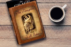 """""""The Peregrine"""" by J.A. Baker (Beangrau12) Tags: dogwood2018 week40 visionclassicnovel book stackofbooks cupofcoffee table peregrinefalcon bookcover novel"""