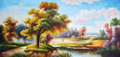 Sowing, Art Painting / Oil Painting For Sale - Arteet™ (arteetgallery) Tags: arteet oil paintings canvas art artwork fine arts landscape tree sky grass summer forest season park clouds river spring water natural cloud outdoors trees lake scenery environment field sunny outdoor rural meadow travel autumn leaves countryside scene horizon scenic morning country day peace leaf garden reflection fall sun wood mountain yellow flower tourism ecology maple landscapes surreal fantasy pastorals pink lime paint