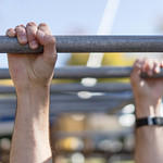 Close Up on the Hands While Workout on the Horizontal Ladder thumbnail