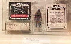 The highly sought-after Mail Away 3 3/4 inch figure of Boba Fett on display at #MayTheToysBeWithYou, Torquay Museum 19.08.17 (Trevor Bruford) Tags: star wars toy figure exhibition torquay museum maythetoysbewithyou