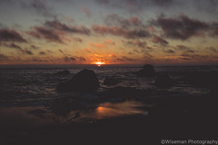 Sunset on the west coast (Wiseman-Photography) Tags: california ocean landscape longexposure long exposure oceanscape scape land waves sunset oceansunset oceanrocks rocks muscleshell