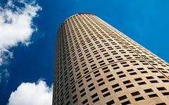 Sykes Tampa (crashmattb) Tags: tampa florida downtown skyscraper canon70d wideangle sky clouds upward building architecture modern lightroom april 2018