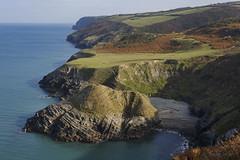 Coast of West Wales (shawn~white) Tags: 50mm canon6d ceredigion cymru uk westwales awe beach cliff coast dramatic landscape majestic maritime ocean peaceful rocks sea shore wonder ©shawnwhite