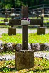 First World War Cemetery in Ukanc (paveldobrovsky) Tags: 2018 army battlefields bohinj burial cemetery conflict cross dead europe first grave great historic history memorial memory military monument rip slovenia slovenian slovinsko soldier tombstone tourism ukanc war wood world worldwar ww1 wwi